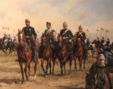 El general Prim tras la batalla