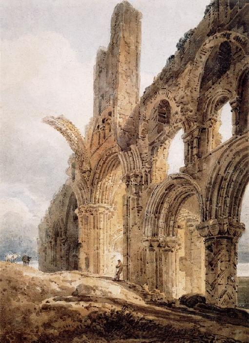 «The Ruins of Lindisfarne Priory»
