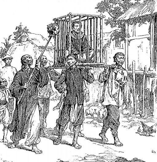 Ilustración de «La Guerra de la Cochinchina» de Alejandre Síntes (EDHASA)