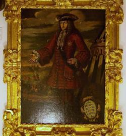 Cuadro de Felipe V (considerado por el nacionalismo la bestia negra de Cataluña) en el Almudín de Játiva.