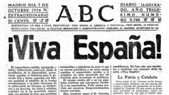 Editorial de ABC, tras la declaración del Estado catalán en 1934
