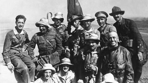 Francisco Franco, comandante de la primera bandera de la Legión.