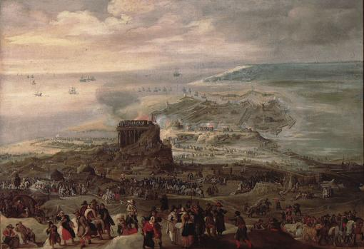 Sitio de Ostende, obra de Pieter Snayers