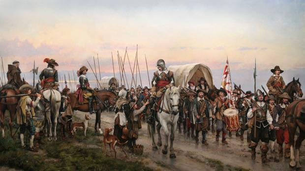 Pintura «El Camino Español», de Augusto Ferrer-Dalmau