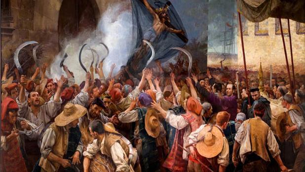 Cuadro sobre la Guerra de los Segadores, por Antoni Estruch