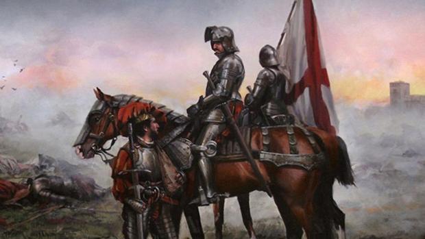 Lienzo dedicado a la batalla de Pavía de Augusto Ferrer-Dalmau