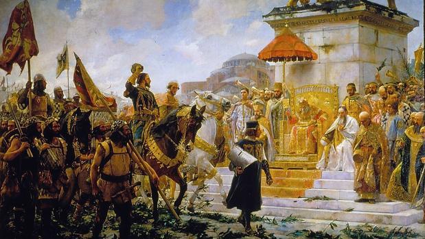 Roger de Flor y los almogávares son recibidos por el emperador bizantino