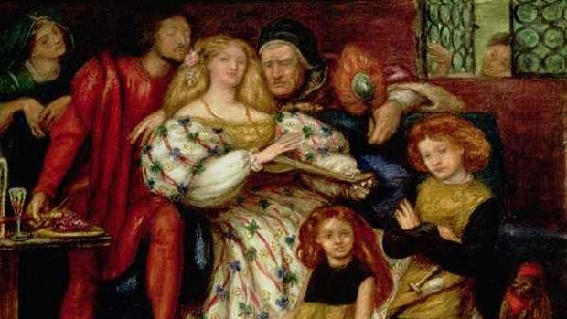 La familia Borgia por Dante Gabriel Rossetti