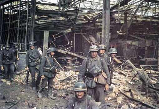 Stalingrado. Agosto de 1942. Soldados alemanes durante la batalla de Stalingrado
