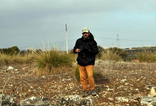 Ángel Matías, en el valle del Jarama