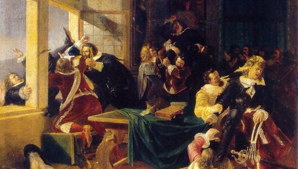 La segunda defenestración de Praga (Karel Svoboda, 1844)