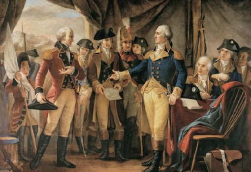 El general acepta la rendición británica