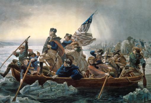 Washington cruza el río Delaware