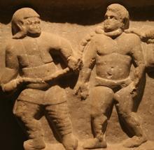 Relieve que muestra a un esclavo en una provincia romana de Asia