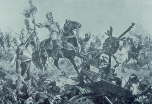 Ilustración de la batalla de Otumba