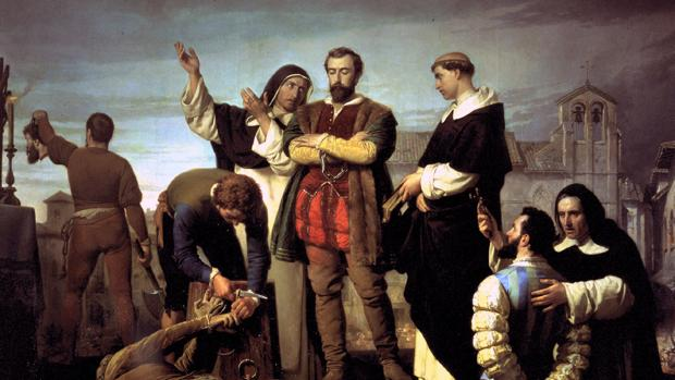 Ejecución de los comuneros de Castilla, del romántico Antonio Gisbert