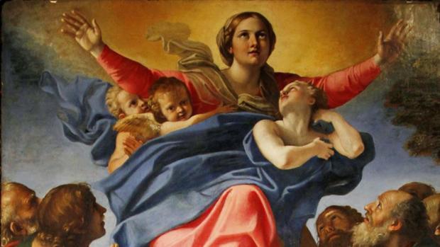 Asunción de la Virgen María, por Annibale Carracci