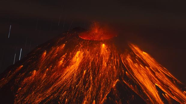 Foto de archivo de Volcán