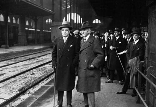 Francesc Macià, en París en 1927