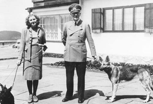 Hitler y Eva en el Berghof