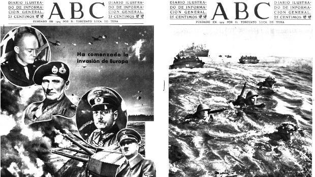Portadas de ABC sobre el Desembarco de Normandía