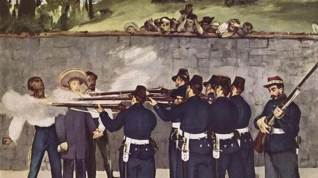 «Ejecución del Emperador Maximiliano de México», Manet