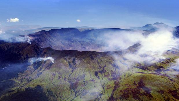 Caldera del volcán Tambora