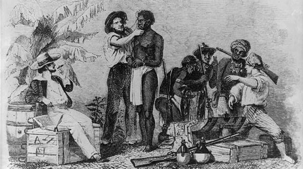 El comercio de esclavos africanos