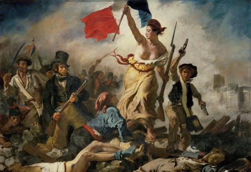 «La libertad guiando al pueblo», Eugene Delacroix