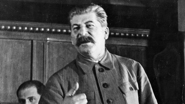 Stalin, durante uno de sus discursos, en 1939