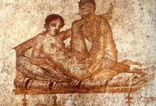 Pintura de un lupanar romano
