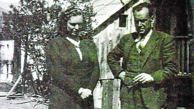 Miguel Giner y su mujer Dolores, en Les