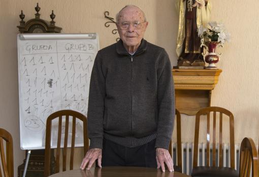 Vicente Giner, en su residencia de San Juan