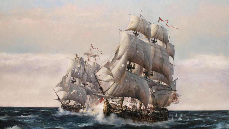 Resultado de imagen de El «glorioso» buque español que se enfrentó y humilló a doce navíos británicos en 1747
