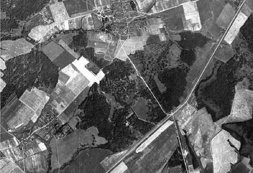Fotografía aérea de la zona tomada por un piloto de la Luftwaffe en 1942