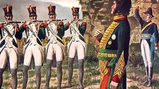 Fusilamiento de Murat en 1815
