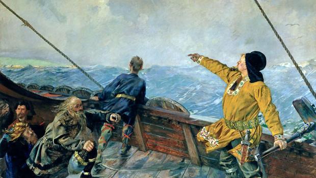 El hallazgo de restos de una población vikinga en la isla de Terranova (Canadá) demostró el paso de los nórdicos por el Nuevo Mundo casi 500 años antes del primer viaje de Colón. [Historia] Leiv-eriksson-kiFD--620x349@abc