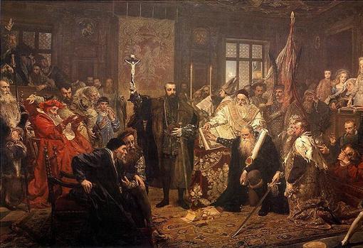 Unión de Lublin de 1569, por Jan Matejko