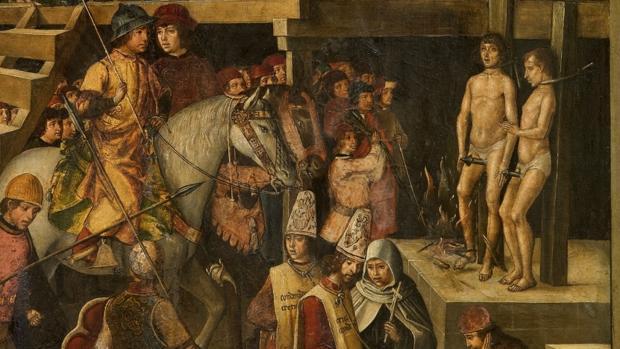 Pedro Berruguete: Santo Domingo presidiendo un auto de fe (1475)