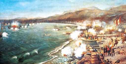 Fragata española «Numancia», la olvidada historia del primer acorazado en dar la vuelta al mundo CombateDosdeMayo-kriF-U301761990180aV-510x260@abc