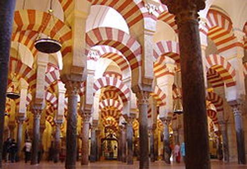 La mezquita de Córdoba, el monumento más conocido de los Omeyas de occidente.