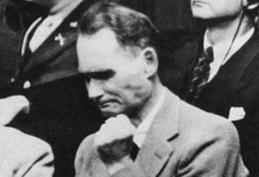 Hess, durante los juicios de Núremberg