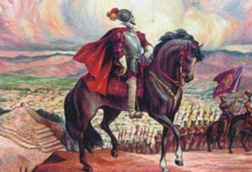 Pizarro, en su partida hacia Cajamarca