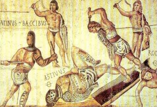 Representación clásica de los gladiadores