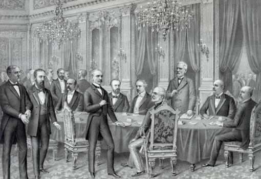 Firma de Paz entre los Estados Unidos de América y el Reino de España
