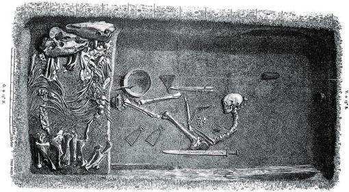 Representación de la tumba de Birka