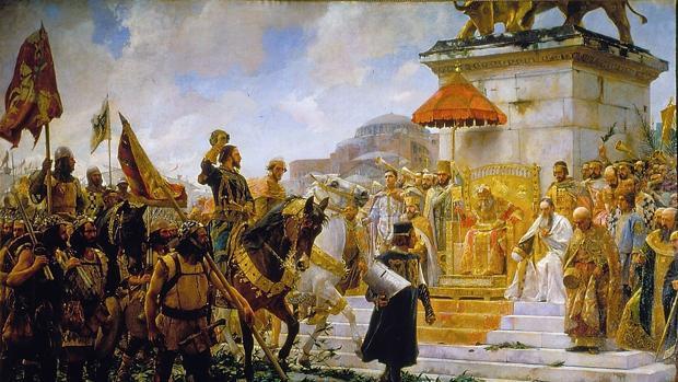 Entrada de Roger de Flor en Constantinopla (1888). Obra de José Moreno Carbonero (Palacio del Senado, Madrid).