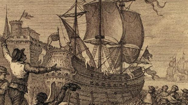 Salida de Magallanes y Elcano hacia las Molucas