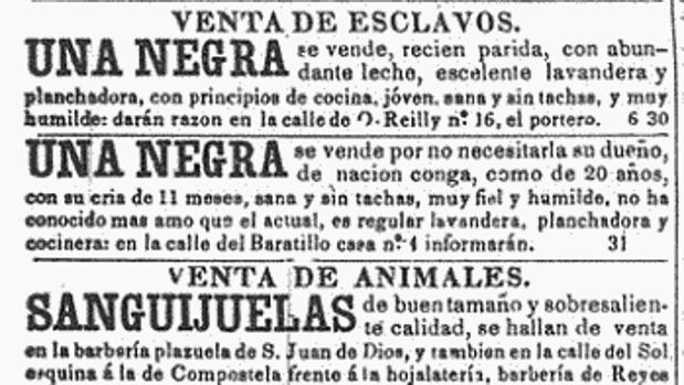 Anuncio del «Diario de la Marina», publicado el 3 de febrero de 1846