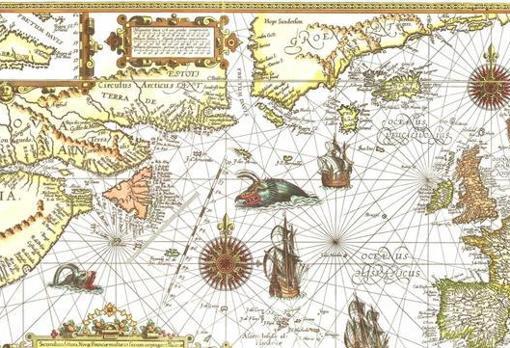 Mapa del siglo XVI con lo que se conocía de Norteamérica